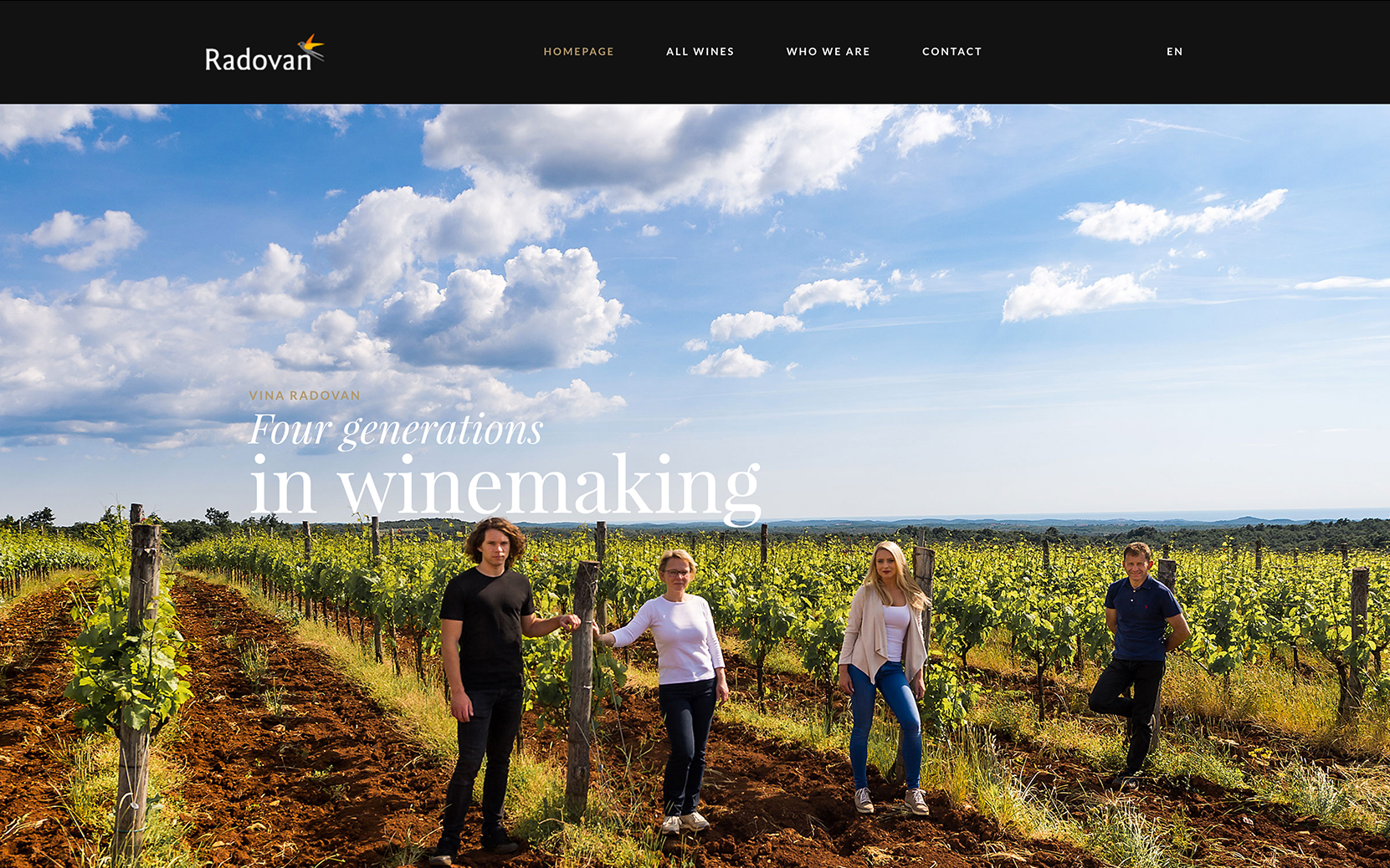 hren | plethora of creativity // Radovan winery digital presence